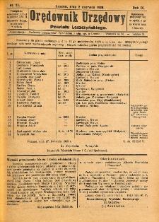 Orędownik Urzędowy Powiatu Leszczyńskiego 1928.06.02 R.9 Nr 23