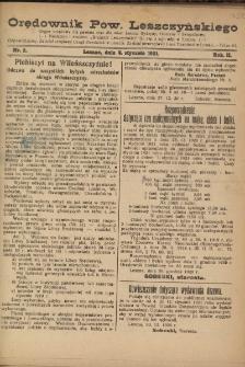 Orędownik Powiatu Leszczyńskiego 1921.01.05 R. 2 Nr 2
