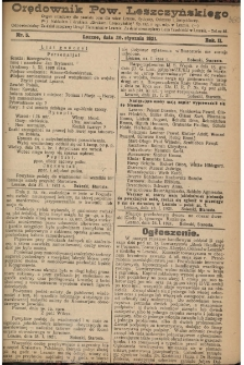 Orędownik Powiatu Leszczyńskiego 1921.01.29 R. 2 Nr 5