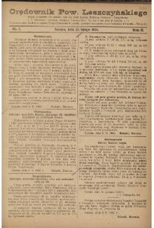 Orędownik Powiatu Leszczyńskiego 1921.02.12 R. 2 Nr 7