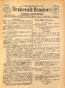 Orędownik Urzędowy Powiatu Leszczyńskiego 1928.11.10 R.9 Nr 46