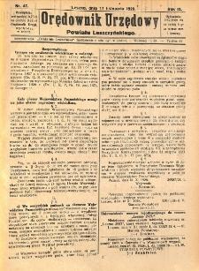 Orędownik Urzędowy Powiatu Leszczyńskiego 1928.11.17 R.9 Nr 47