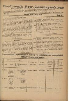 Orędownik Powiatu Leszczyńskiego 1921.05.07 R. 2 Nr 20