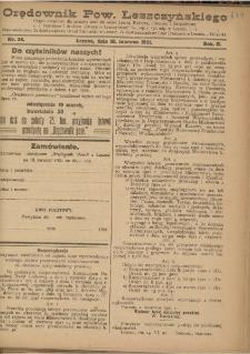 Orędownik Powiatu Leszczyńskiego 1921.06.18 R. 2 Nr 26