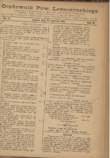 Orędownik Powiatu Leszczyńskiego 1921.06.25 R. 2 Nr 27