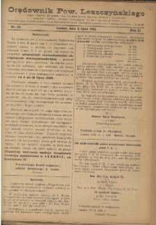 Orędownik Powiatu Leszczyńskiego 1921.07.02 R. 2 Nr 28