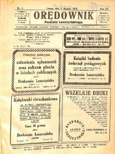 Orędownik Powiatu Leszczyńskiego 1932.01.02 R.12 Nr 1