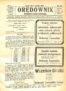 Orędownik Powiatu Leszczyńskiego 1932.01.09 R.12 Nr 2