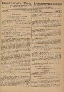 Orędownik Powiatu Leszczyńskiego 1921.08.06 R. 2 Nr 33
