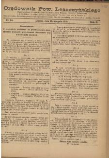 Orędownik Powiatu Leszczyńskiego 1921.08.10 R. 2 Nr 34