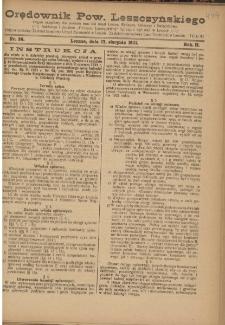 Orędownik Powiatu Leszczyńskiego 1921.08.17 R. 2 Nr 36