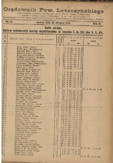 Orędownik Powiatu Leszczyńskiego 1921.08.20 R. 2 Nr 37