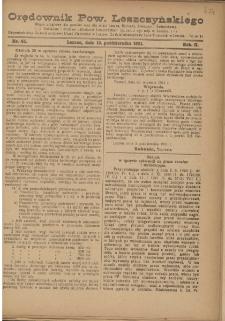 Orędownik Powiatu Leszczyńskiego 1921.10.12 R. 2 Nr 45