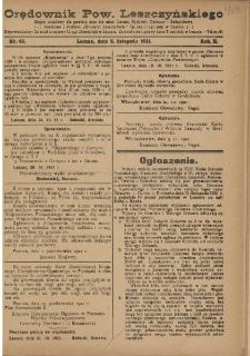 Orędownik Powiatu Leszczyńskiego 1921.11.05 R. 2 Nr 49