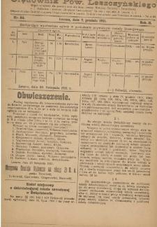 Orędownik Powiatu Leszczyńskiego 1921.12.07 R. 2 Nr 56