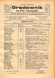 Orędownik na powiat Leszczyński 1932.03.19 R.12 Nr 12