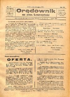 Orędownik na powiat Leszczyński 1932.03.26 R.12 Nr 13