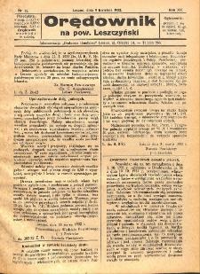 Orędownik na powiat Leszczyński 1932.04.09 R.12 Nr 15