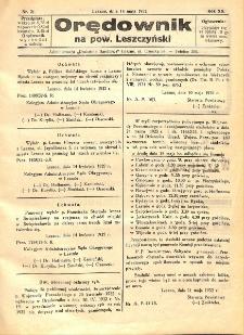 Orędownik na powiat Leszczyński 1932.05.14 R.12 Nr 21