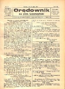 Orędownik na powiat Leszczyński 1932.05.21 R.12 Nr 22