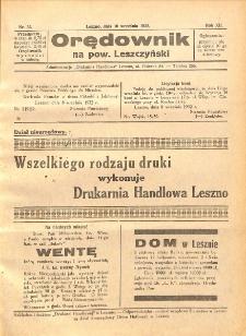 Orędownik na powiat Leszczyński 1932.09.10 R.12 Nr 36