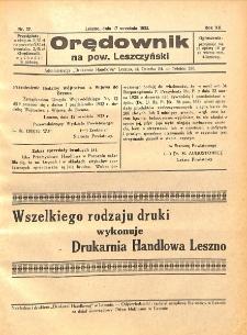 Orędownik na powiat Leszczyński 1932.09.17 R.12 Nr 37