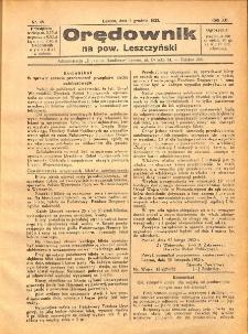 Orędownik na powiat Leszczyński 1932.12.03 R.12 Nr 48
