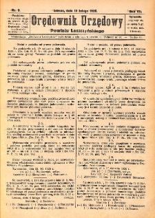 Orędownik Urzędowy Powiatu Leszczyńskiego 1926.02.13 R.7 Nr 9