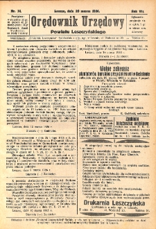 Orędownik Urzędowy Powiatu Leszczyńskiego 1926.03.20 R.7 Nr 14