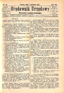Orędownik Urzędowy Powiatu Leszczyńskiego 1927.04.06 R.8 Nr 24