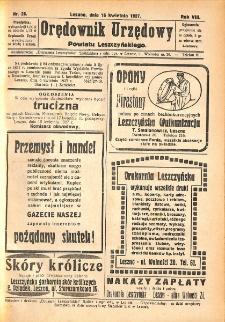 Orędownik Urzędowy Powiatu Leszczyńskiego 1927.04.16 R.8 Nr 26