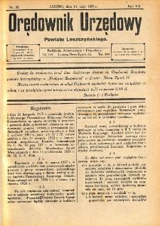 Orędownik Urzędowy Powiatu Leszczyńskiego 1927.05.14 R.8 Nr 30