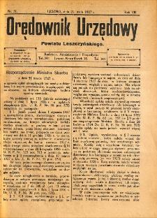 Orędownik Urzędowy Powiatu Leszczyńskiego 1927.05.21 R.8 Nr 31