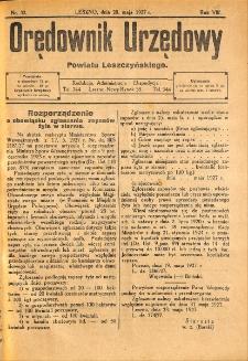 Orędownik Urzędowy Powiatu Leszczyńskiego 1927.05.28 R.8 Nr 32