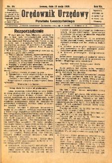 Orędownik Urzędowy Powiatu Leszczyńskiego 1926.05.19 R.7 Nr 24