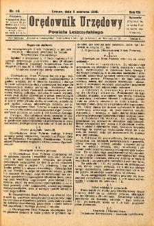 Orędownik Urzędowy Powiatu Leszczyńskiego 1926.06.02 R.7 Nr 26