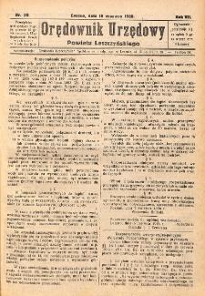 Orędownik Urzędowy Powiatu Leszczyńskiego 1926.06.16 R.7 Nr 28
