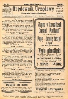 Orędownik Urzędowy Powiatu Leszczyńskiego 1926.07.17 R.7 Nr 32