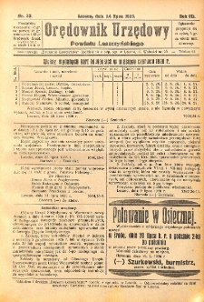 Orędownik Urzędowy Powiatu Leszczyńskiego 1926.07.24 R.7 Nr 33