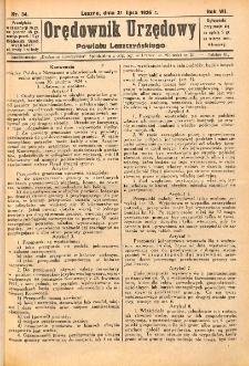 Orędownik Urzędowy Powiatu Leszczyńskiego 1926.07.31 R.7 Nr 34
