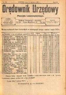 Orędownik Urzędowy Powiatu Leszczyńskiego 1927.06.11 R.8 Nr 34