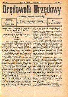 Orędownik Urzędowy Powiatu Leszczyńskiego 1927.07.16 R.8 Nr 39
