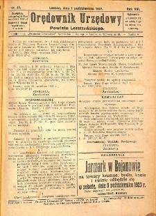 Orędownik Urzędowy Powiatu Leszczyńskiego 1927.10.01 R.8 Nr 49