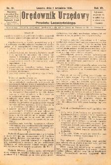 Orędownik Urzędowy Powiatu Leszczyńskiego 1926.09.01 R.7 Nr 43