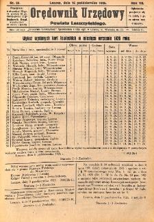 Orędownik Urzędowy Powiatu Leszczyńskiego 1926.10.16 R.7 Nr 50