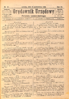 Orędownik Urzędowy Powiatu Leszczyńskiego 1926.10.20 R.7 Nr 51
