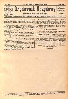 Orędownik Urzędowy Powiatu Leszczyńskiego 1926.10.23 R.7 Nr 52