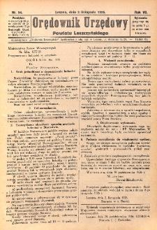 Orędownik Urzędowy Powiatu Leszczyńskiego 1926.11.03 R.7 Nr 54