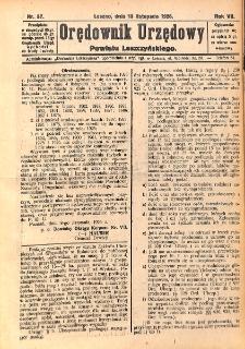 Orędownik Urzędowy Powiatu Leszczyńskiego 1926.11.13 R.7 Nr 57