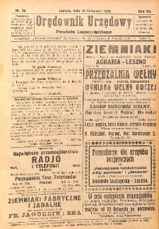 Orędownik Urzędowy Powiatu Leszczyńskiego 1926.11.17 R.7 Nr 58